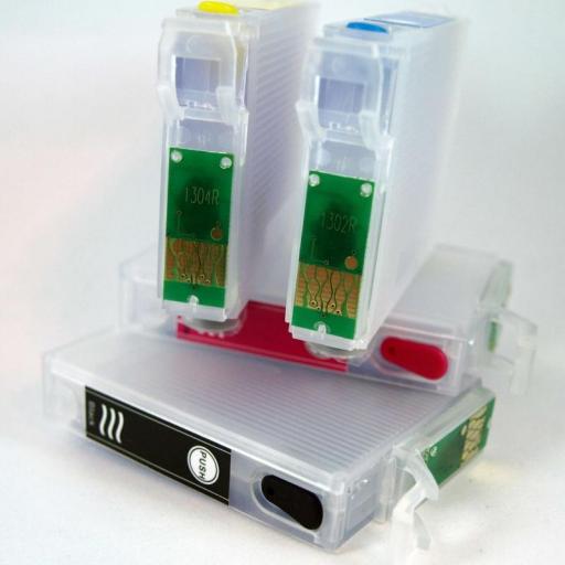 EPSON T130 / JUEGO DE CARTUCHOS RECARGABLES con CHIP ARC para EPSON Serie T130 CIERVO.  [1]