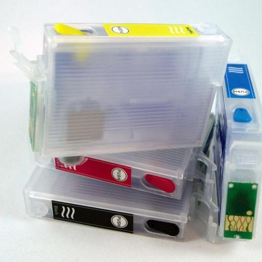 EPSON T130 / JUEGO DE CARTUCHOS RECARGABLES con CHIP ARC para EPSON Serie T130 CIERVO.  [2]