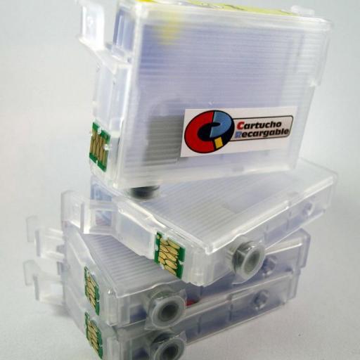 E502XL Juego de cartuchos recargables  con chip ARC especial para Epson E502XL [3]