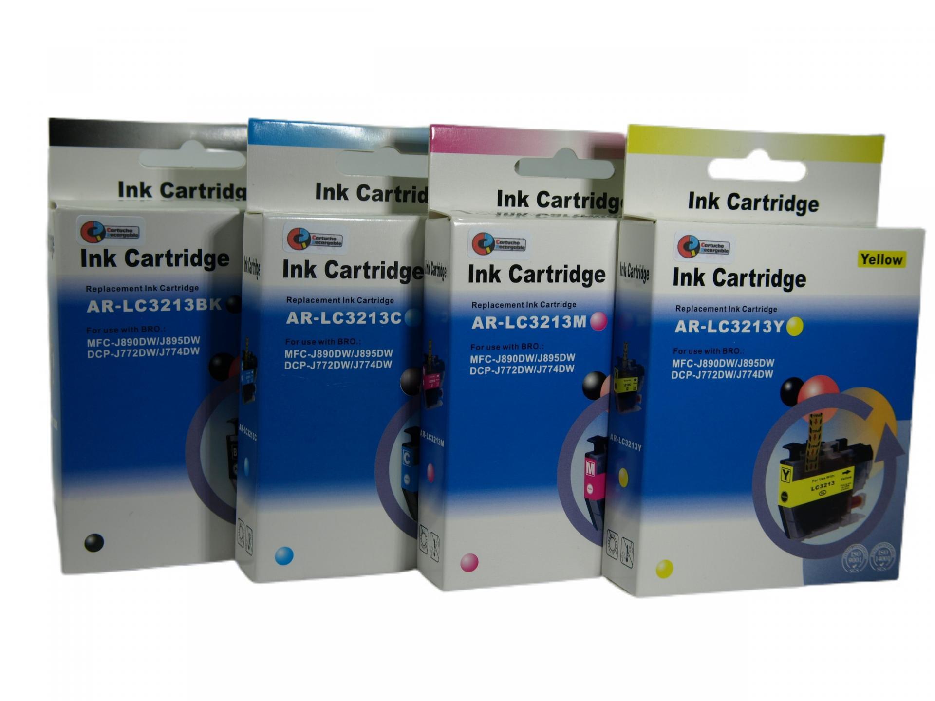 3213 Juego de Cartuchos COMPATIBLES para Brother Mod. 3213 XL