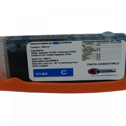 Comestible PGI525 526 / Juego de Cartuchos con Tinta Comestible compatible con CANON PGI525-CLI526 [2]