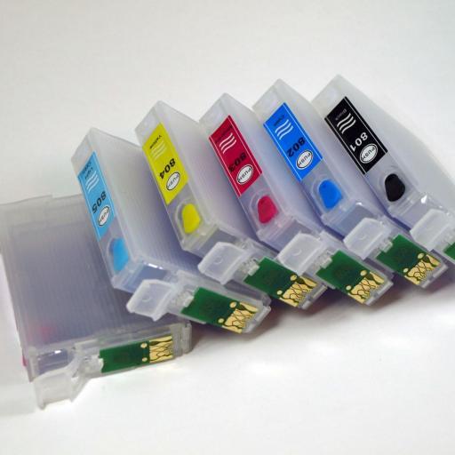 CARTUCHOS RECARGABLES compatibles T08 de epson [3]