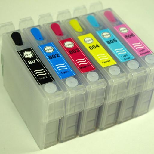 CARTUCHOS RECARGABLES compatibles T08 de epson