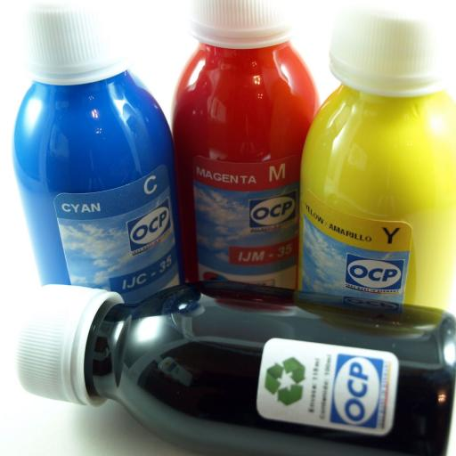 18XL / Kit de Recarga con tinta marca OCP + CARTUCHOS RECARGABLES con CHIP ARC compatible con serie 18 y 18XL Margarita (No original Epson) [3]