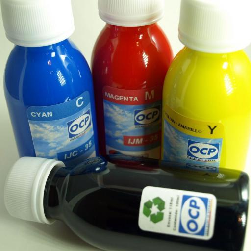 T129 / TINTA marca OCP PARA RECARGA DE CARTUCHOS y sistemas CISS tipo EPSON T129 MANZANA.