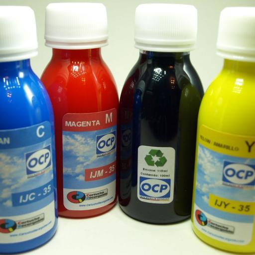 T130 / TINTA marca  OCP PARA RECARGA DE CARTUCHOS y sistemas CISS tipo EPSON serie T130 CIERVO.  [2]