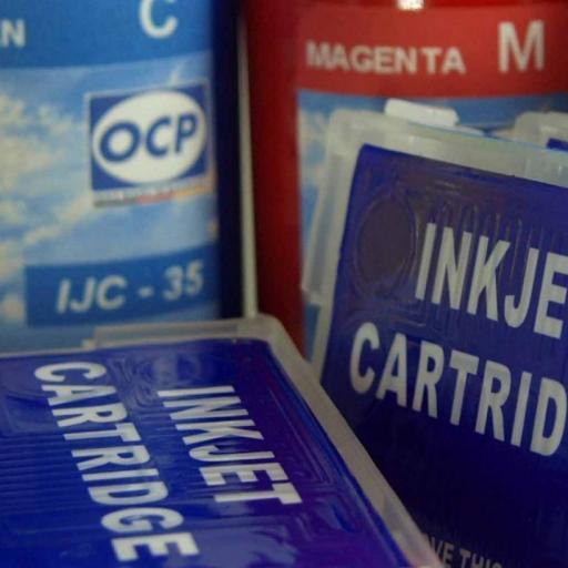 T34XL / Kit de Recarga con tinta OCP + cartuchos RECARGABLES con CHIP ARC compatible con serie T34XL  (No original epson)