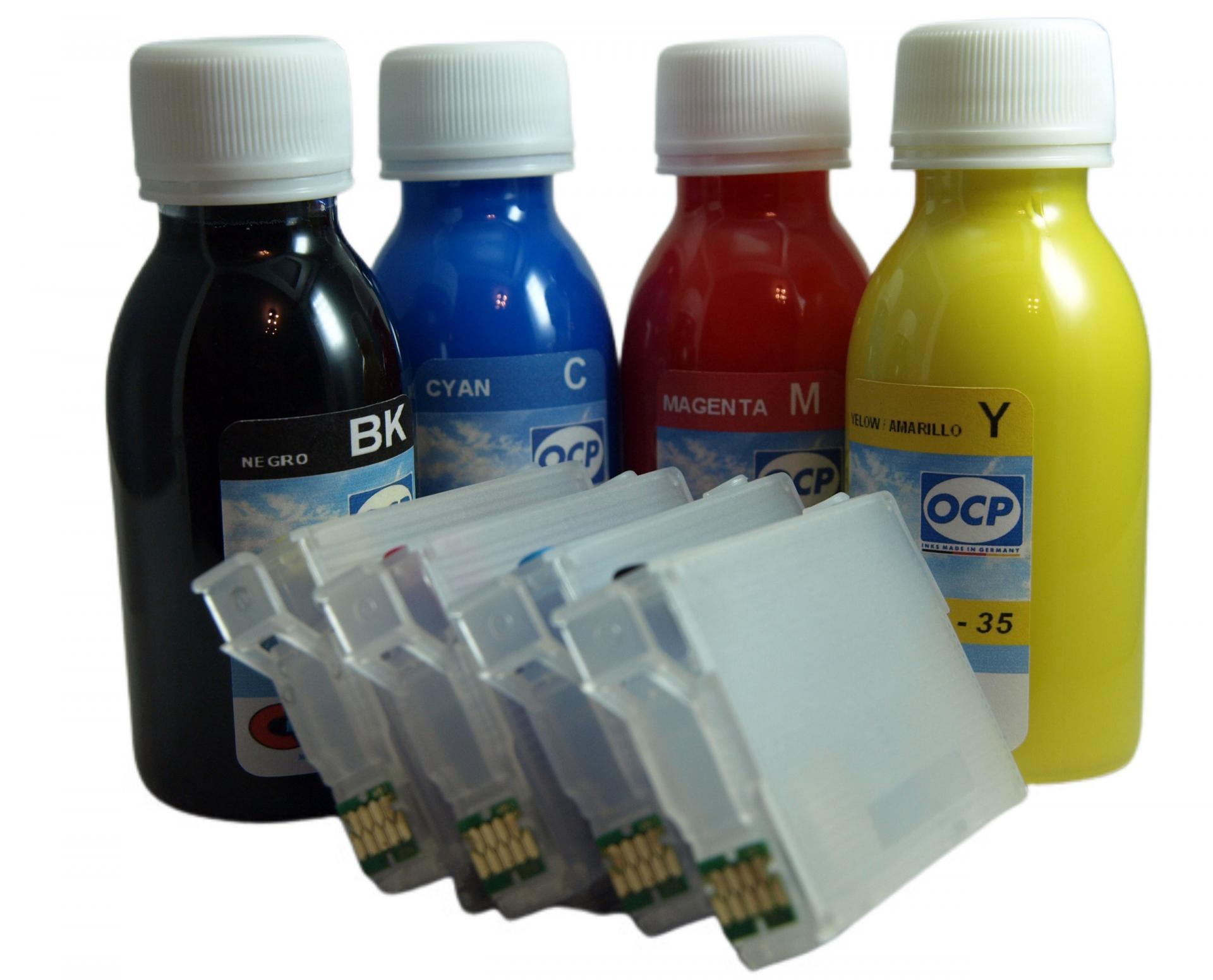 603XL / Kit de Recarga con tinta OCP + Cartuchos RECARGABLES con CHIP ARC compatible con serie 603XL (No original epson)