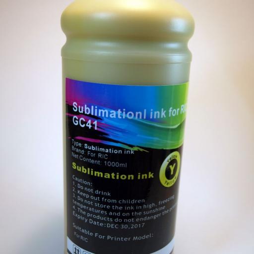 Tinta SUBLIMACION 1Lt. Y para RICOH GC21-31-41-SG3100