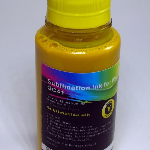 Tinta SUBLIMACION 4 x 100ml Bk-C-M-Y para RICOH GC21-31-41-SG3100  [2]