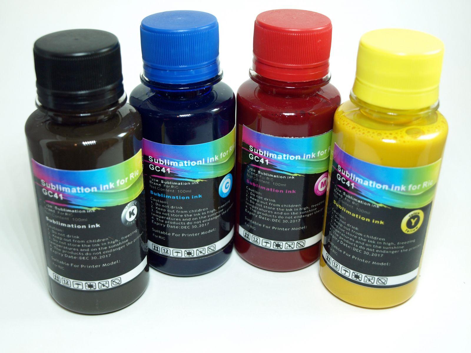 Tinta SUBLIMACION 4 x 100ml Bk-C-M-Y para RICOH GC21-31-41-SG3100