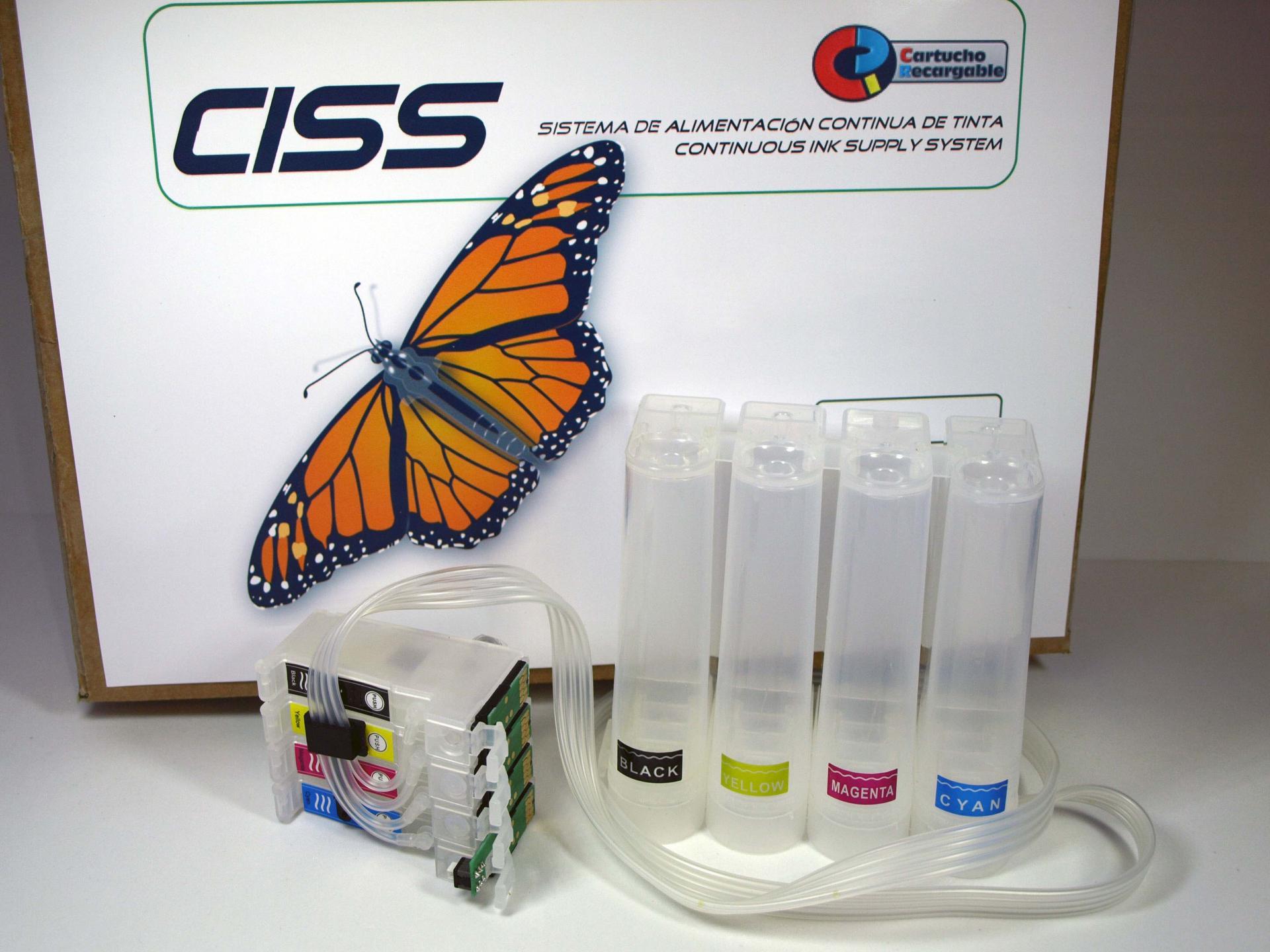 Sistema de tinta CISS compatibles con Epson modelos WF-7720 WF-7710  WF-7715