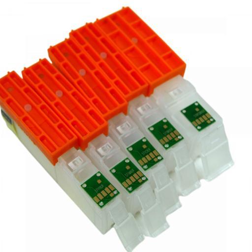 CARTUCHOS RECARGA. con chip para CANON 570-571 [3]