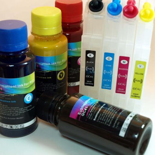 Tintas sublimación + Cartuchos recargables GC41 RICOH