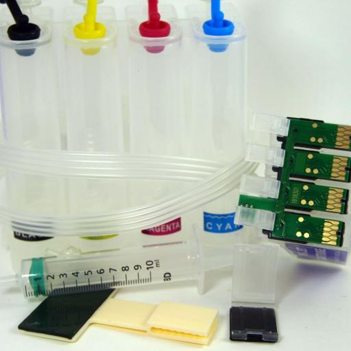CISS 16XL con chip auto-reset compatible EPSON  16XL