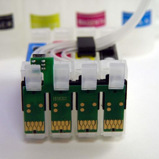 CISS 16XL con chip auto-reset compatible EPSON  16XL [2]