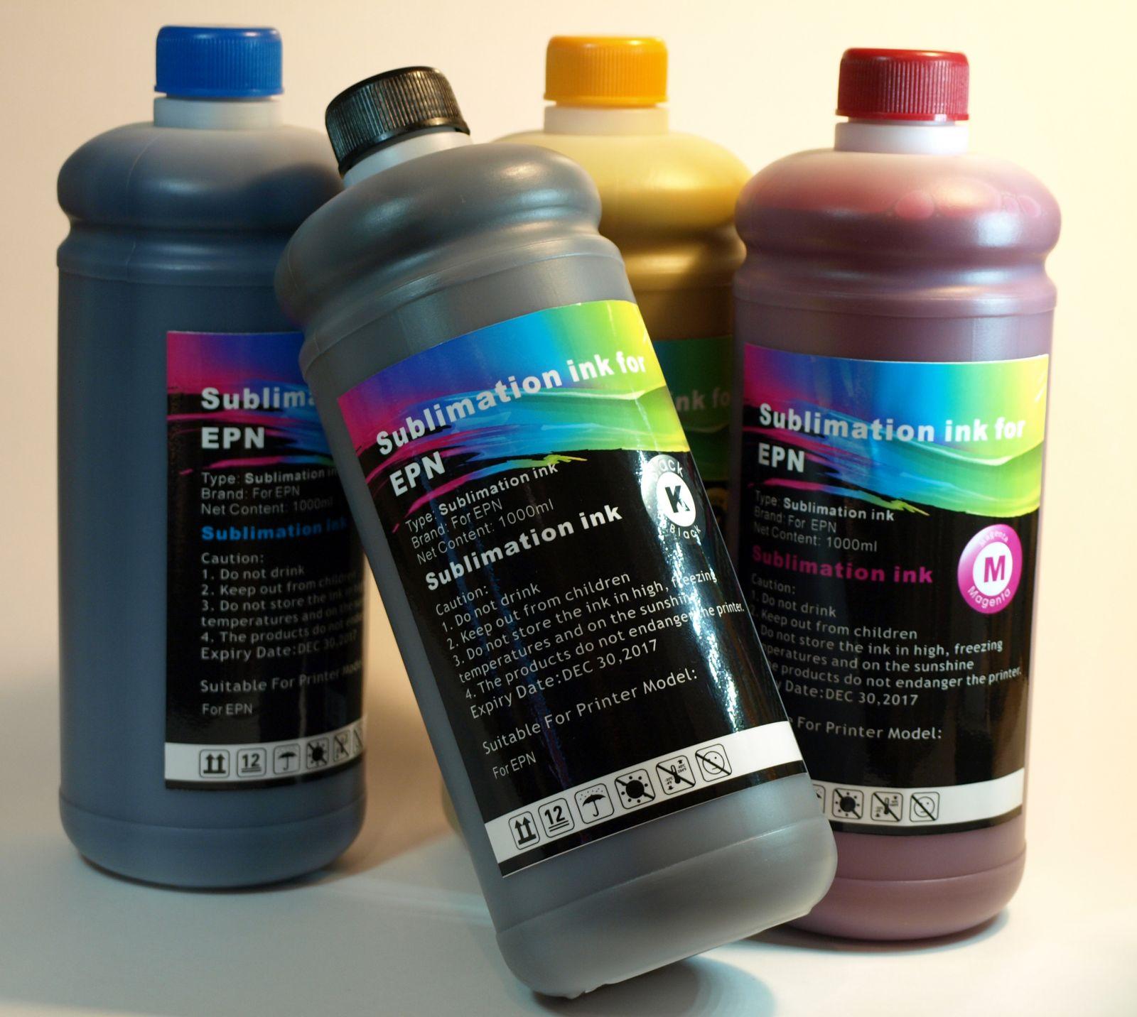 Tinta SUBLIMACION 4 x 1Lt. Bk,C,M,Y compatible Epson