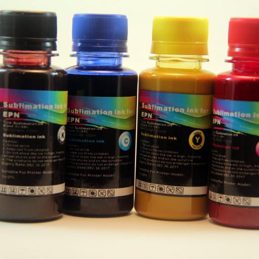 Tintas SUBLIMACION  4 X 100ML compatible EPSON