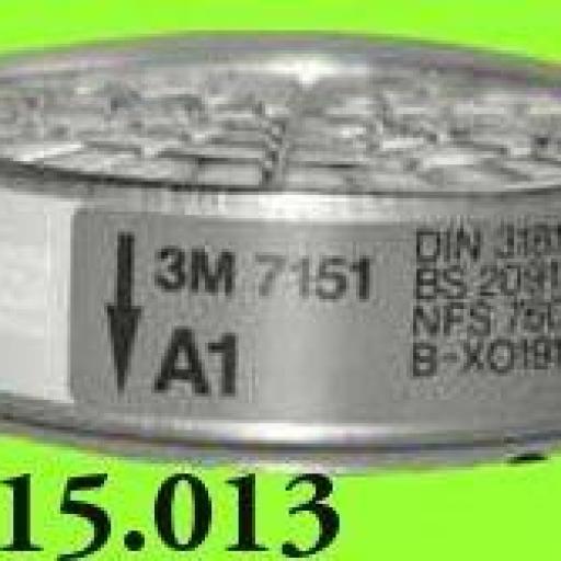 2 FILTROS MASCARILLA A1 3M   7151