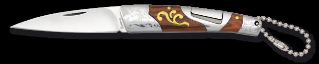 Navaja Albainox acero/ madera roja. 7.5