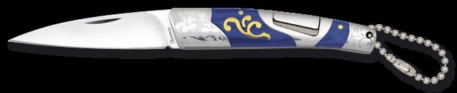 Navaja Albainox acero/ madera azul. 7.5