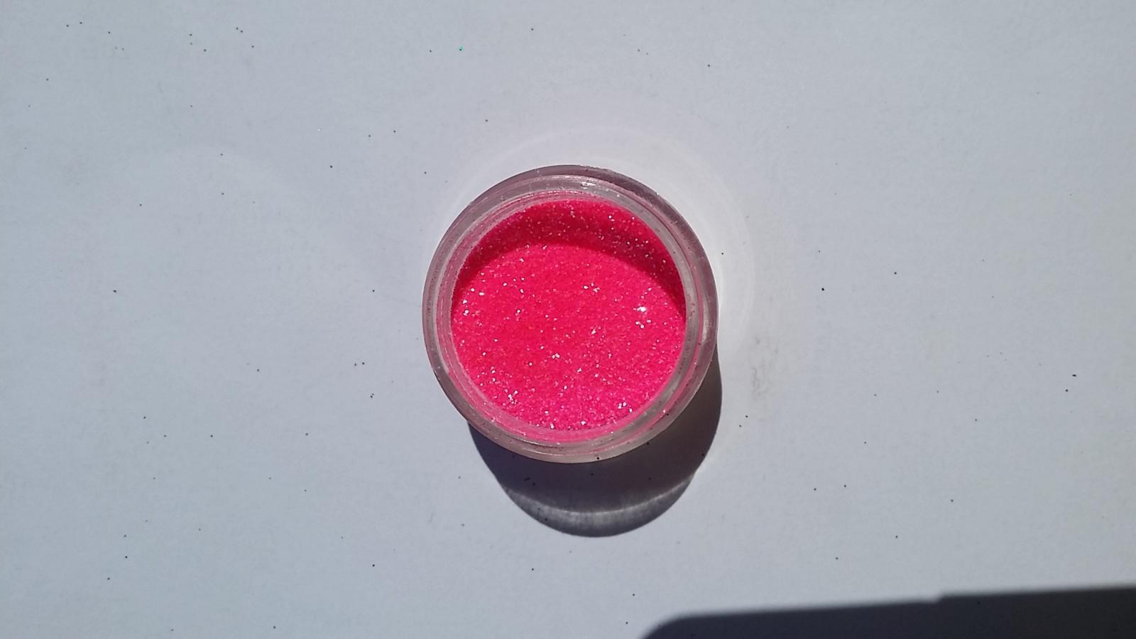 Purpurina Cristal Rosa Neón
