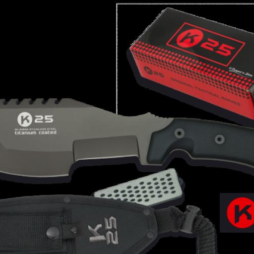 cuchillo Tracker K25 grosor 6 mm.