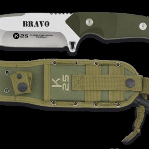 Cuchillo K25. BRAVO.cachas verde.12.5  [0]