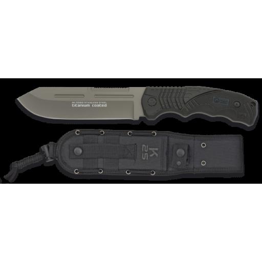 K25. Cuchillo tactico negro. SFL  hoja:14