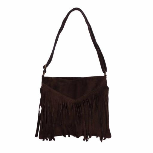 BOLSO FLECOS CHOCOLATE