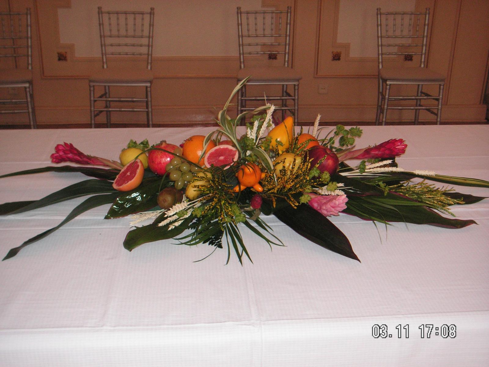 centros  de fruta para mesa