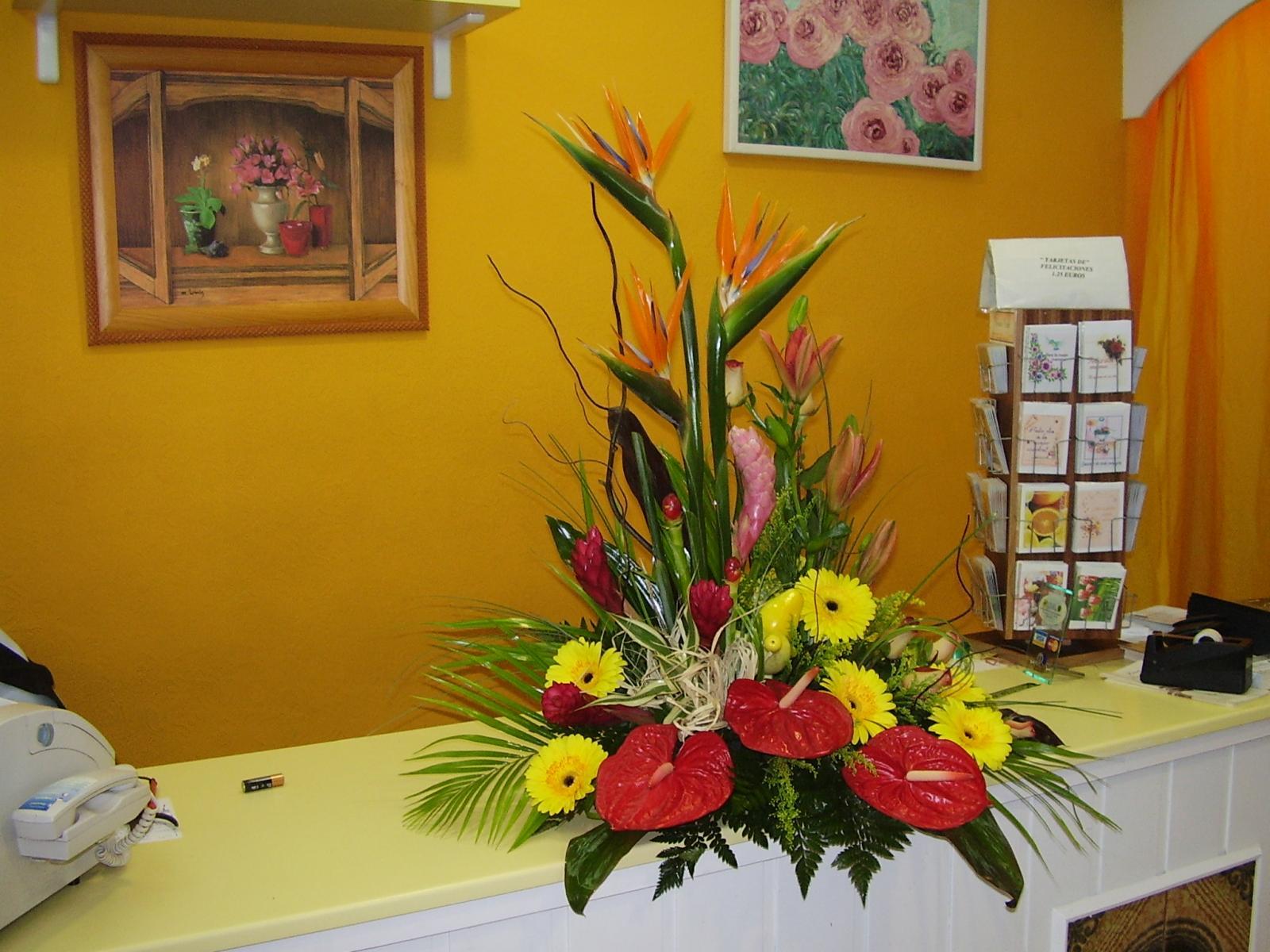 centro de  flores  Exotico