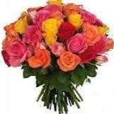 Ramo De Rosas Multicolor precio  de 12 unidades