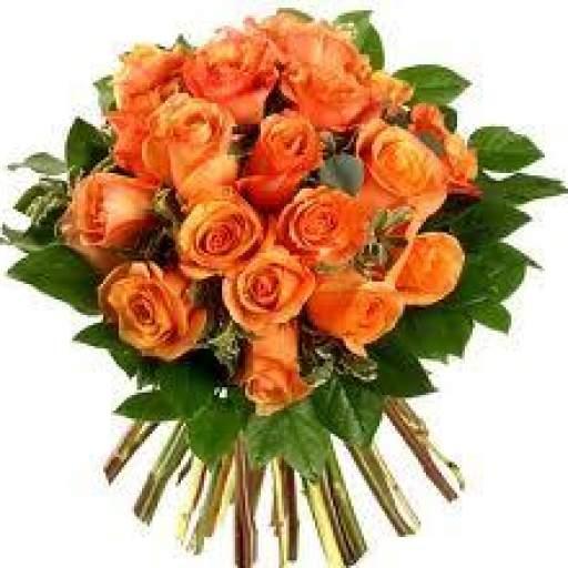 Ramo De Rosas Color Naranjas precio de 12 unidades