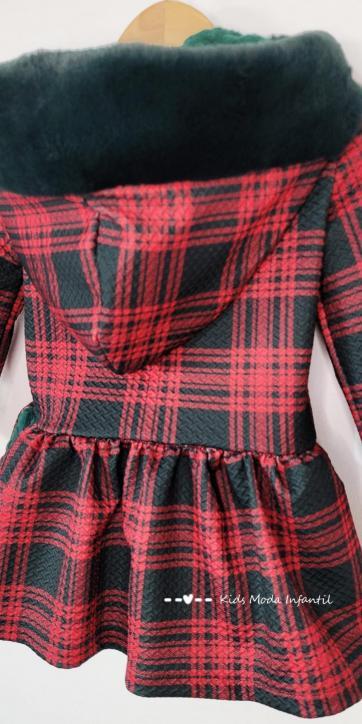 Vestido niña cuadros rojos y verdes de Nekenia [2]