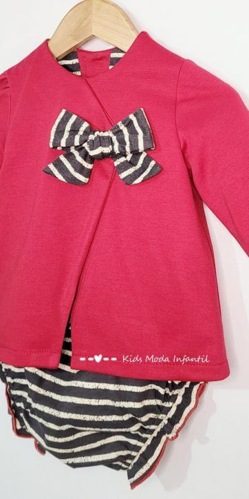 Vestido bebe evase punto rojo de Cuka Moda Infantil [1]
