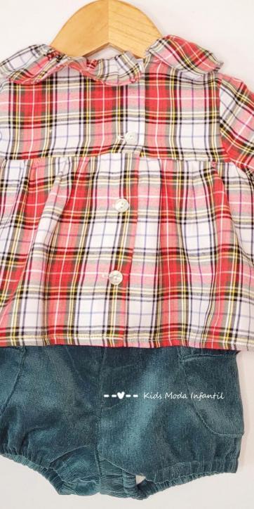 Conjunto bebe niña jersey monamí, camisa y bombacho de Coco Acqua Moda Infantil [3]
