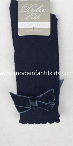 Calceta lazo bebe y niña azul marino Dolce Petit 2502/C