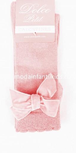 Calceta lazo bebe y niña rosa bebe Dolce Petit 2502/C [1]