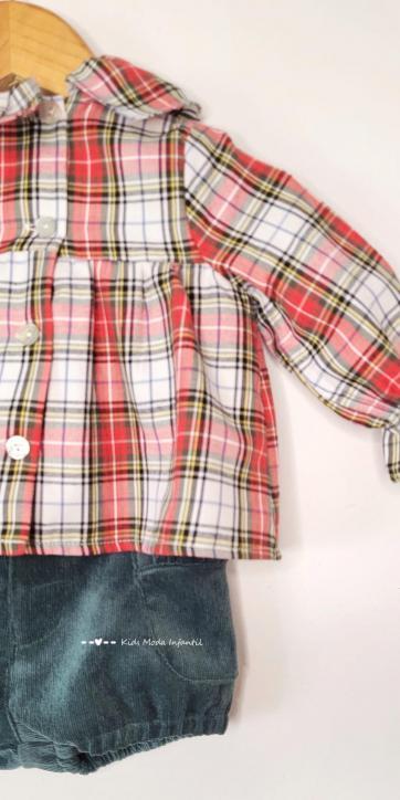 Conjunto bebe niña jersey monamí, camisa y bombacho de Coco Acqua Moda Infantil [1]
