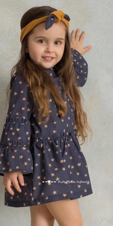 Vestido bebe camisero estrellas estampadas de Cuka Moda Infantil [1]