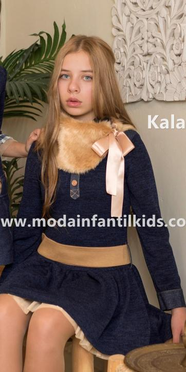 "Nekenia Vestido Niña punto marino con falda vuelo ""Kala"" 1911804 [3]"