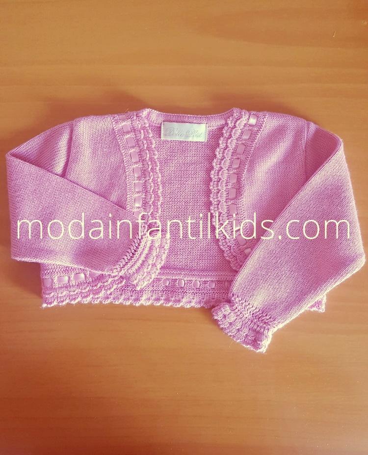 Dolce Petit rebeca bebe abierta en color rosa empolvado 2100/R