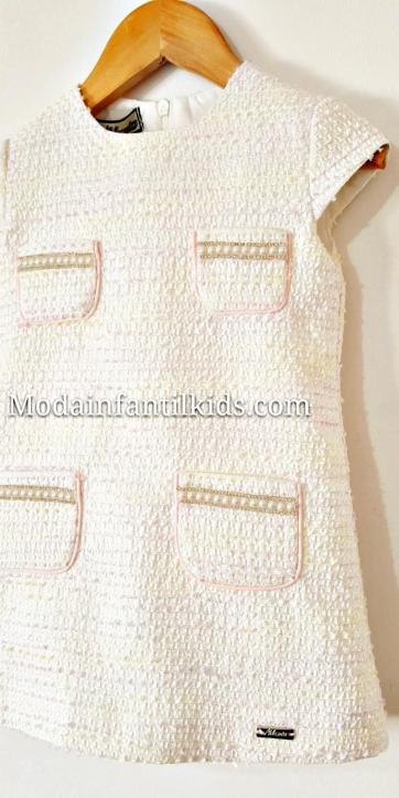 Vestido niña evase con bolsillos perlas de Nekenia [3]