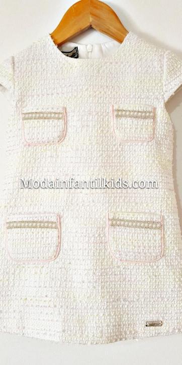 Vestido niña evase con bolsillos perlas de Nekenia [2]
