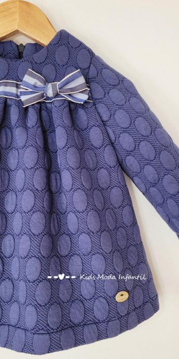Vestido bebe vestir evase azulón de Basmarti