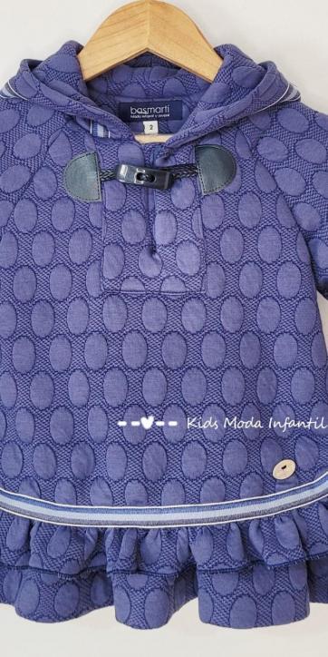 Vestido niña vestir azulón con capucha de Basmartí [3]