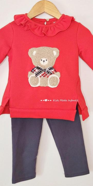 Conjunto niña legging y sudadera roja oso de Coco Acqua Moda Infantil [1]