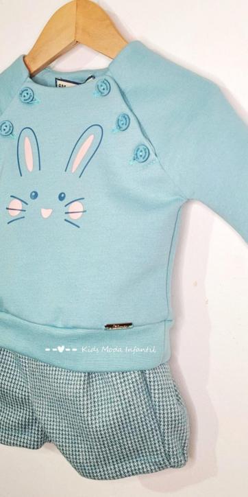 Conjunto bebe niño sudadera conejo Nekenia [1]