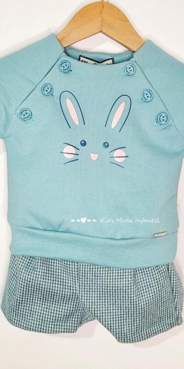 Conjunto bebe niño sudadera conejo Nekenia [3]